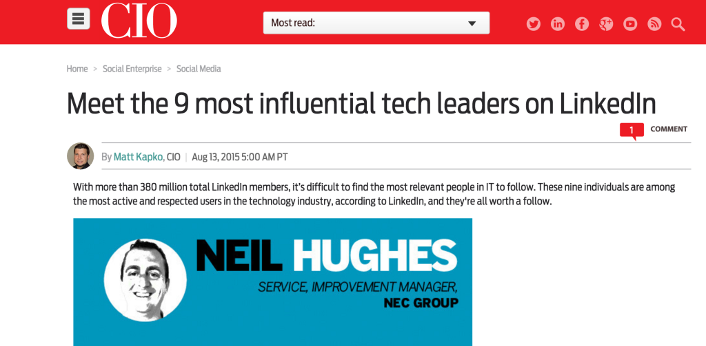 CIO Most Influential Tech Leaders LinkedIn