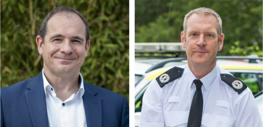 Adam Mayer from Qlik and Will White from the Avon and Somerset Police